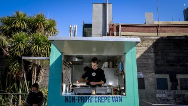 Arts/law student Daniel Poole has founded Crepes for Change, Australia's first not for profit food truck.