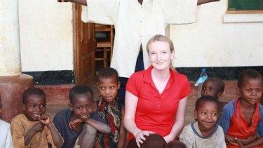 While trekking through Africa Avis taught children at a rural village.