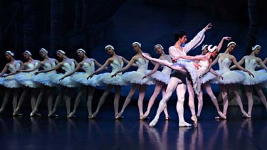 A scene from Swan Lake.