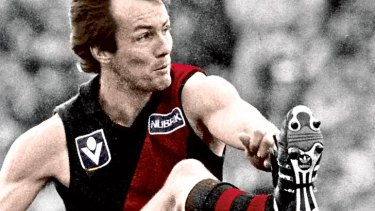 Leon Baker: an iconic Essendon player.