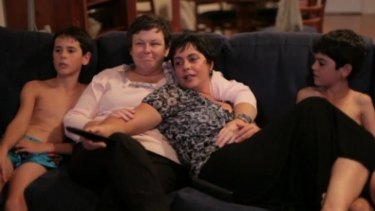 A scene from <i>Gayby Baby</i>, a film about families with same-sex parents.