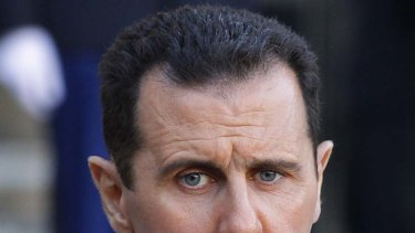 Hitting out ... Syria's President Bashar al-Assad.