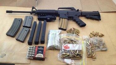Seized ... the assault rifle.