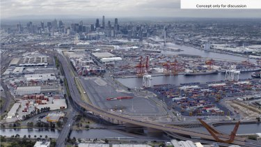 An artist's impression of Transurban's Western Distributor project.