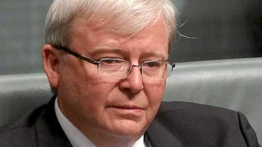 Kevin Rudd after announcing his departure from Parliament last week.