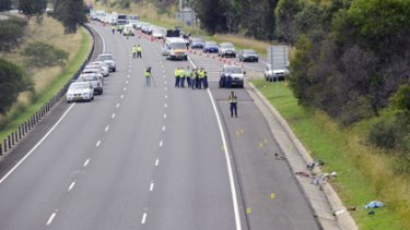 Charity ride turns deadly... the accident scene.