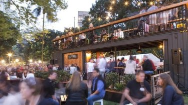 Yalumba's two-storey converted shipping container will be a big attraction at the  WAtoday Night Noodle Markets.