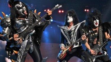 Kiss performing at Melbourne's Etihad Stadium in 2013.