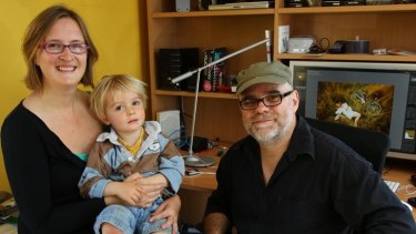 Paul and Sophie Gosney with son Finn.