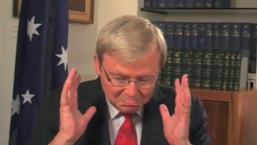 """This is becoming hopeless"" ... Kevin Rudd."