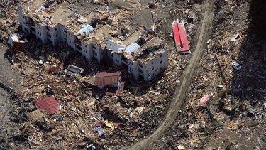 The tsunami ripped through Sendai.