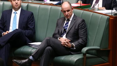 Mr Robert during question time on Monday.