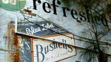 An old Bushells sign in Canterbury.