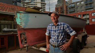 Aristocracy: Doug Beazley is the last in a long line of Port Melbourne fishermen.