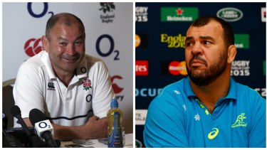 Tale of two coaches: The mentor Eddie Jones and the boss Michael Cheika.