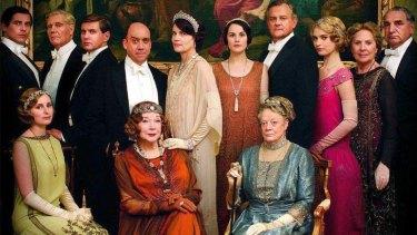No finish date set yet ... <i>Downton Abbey</i>'s season four cast.