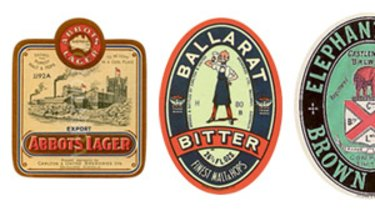 Some of the beer brands not seen since before World War II.