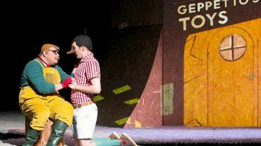 Alirio Zavarce and Nathan O?Keefe in Windmill Theatre's <em>Pinocchio</em>.