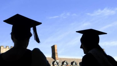 Students graduate from the University of Sydney. A growing number of Australians hold postgraduate qualifications.