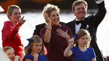 Dutch King Willem-Alexander, Queen Maxima, and their children.
