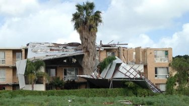 A block of units on Canning Highway in Attadale were significantly damaged.