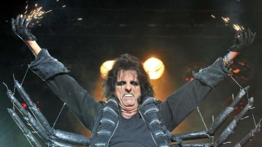 'Rock'n'roll is sexual, tribal': Alice Cooper performing on stage.