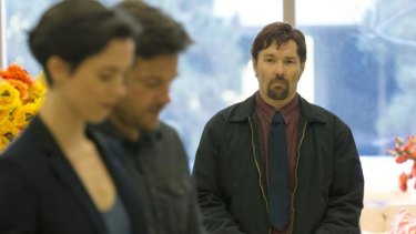 Solid performer: Joel Edgerton with Rebecca Hall and Jason Bateman in <i>The Gift</i>.