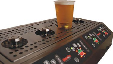 The Bottoms Up Beer Dispenser.