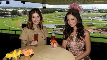 Home is away: Kate Waterhouse with Tammin Sursok, who stars in the US series <em>Pretty Little Liars</em>.