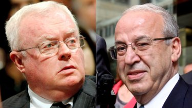 Right-wing kingmakers: Graham Richardson (left) and Eddie Obeid.