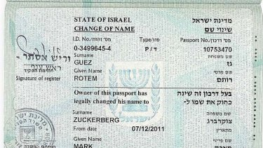 Passport proof of the name change.