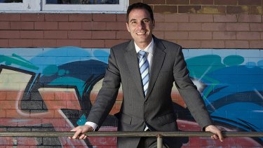 On the rails ... Jihad Dib, principal of Punchbowl State High.