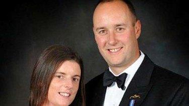 Victim ...  Lt Cdr Ian Molyneux with his wife Gillian.