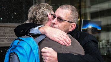 John Dunn, right, who was abused by Cable, said of the paedophile's jailing: 'I needed to hear the door slam shut.'