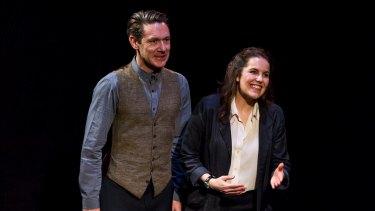 Ben Prendergast and Kate Cole in Incognito at Red Stitch Theatre.