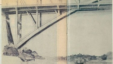 <i>Sydney Bridge</i>. Pencil on paper, 1932.