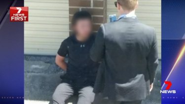 Police arrested the teens at a prayer hall in a Bankstown laneway.