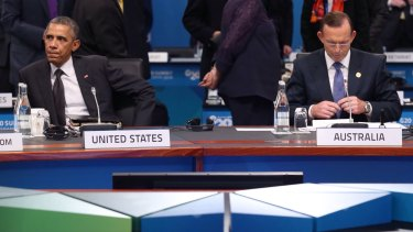 IDEOLOGICAL GAP: US President Barack Obama and Australian Prime Minister Tony Abbott at last month's G20 summit.
