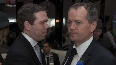 Paul Howes and Labor leader Bill Shorten last November.