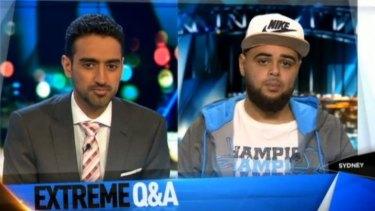 The Project's Waleed Aly presses Zaky Mallah to explain his inflammatory comment on Q&A.