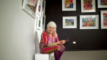 Spiritual journey: Patsy Worledge with some of the artwork in her upcoming exhibition.