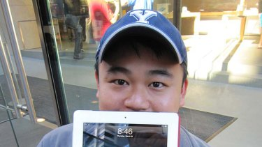 Alex Lee already has an iPad 2 but he's still lining up for another one.