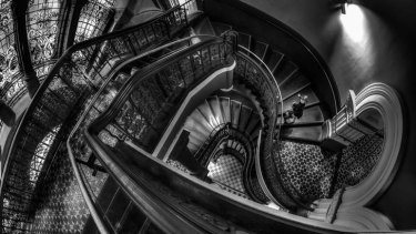 The winner: Buildings and Monuments Challenge,  Rodney Campbell, Queen Victoria Building titled <i>Down the Rabbit Hole</i>.