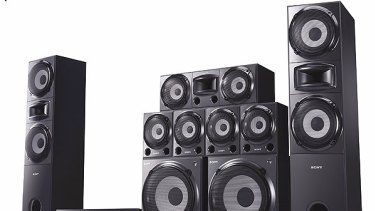 Wall of sound ... Sony's HTDDW7000 is a quality one-brand set-up.