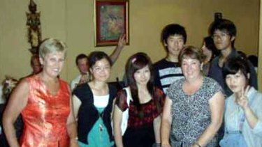 School trip terror ...  Lynda Cody, second from right.