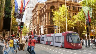 The new Sydney tram line is expected to be ready by 2019.