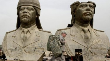 Back to Baghdad: US Army soldiers in the Green Zone in Baghdad in 2009. This week, 275 US troops were  deployed to Baghdad to protect American interests.