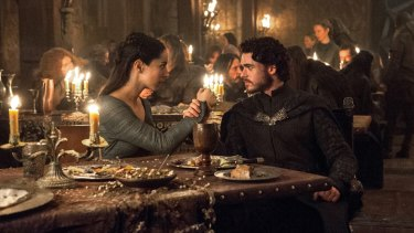 Talisa (Oona Chaplin) and Robb Stark (Richard Madden) in the infamous Red Wedding episode of Game of Thrones.