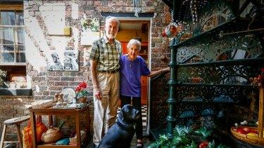 Rolf and Vyrna at home with Jiyu.