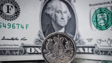 The pound has surged nearly 3 per cent against the greenback.